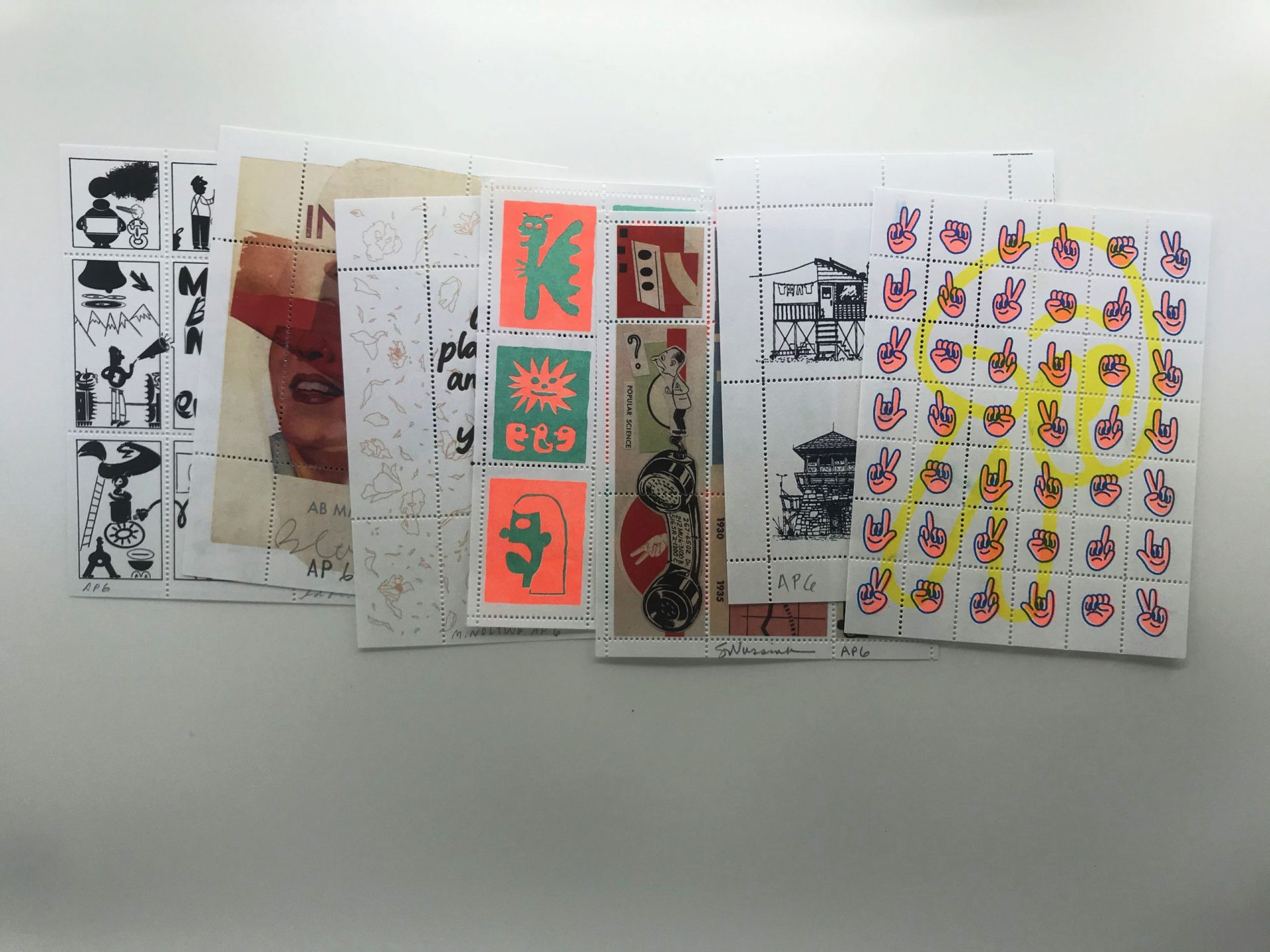 artist series stamps 1 - 7